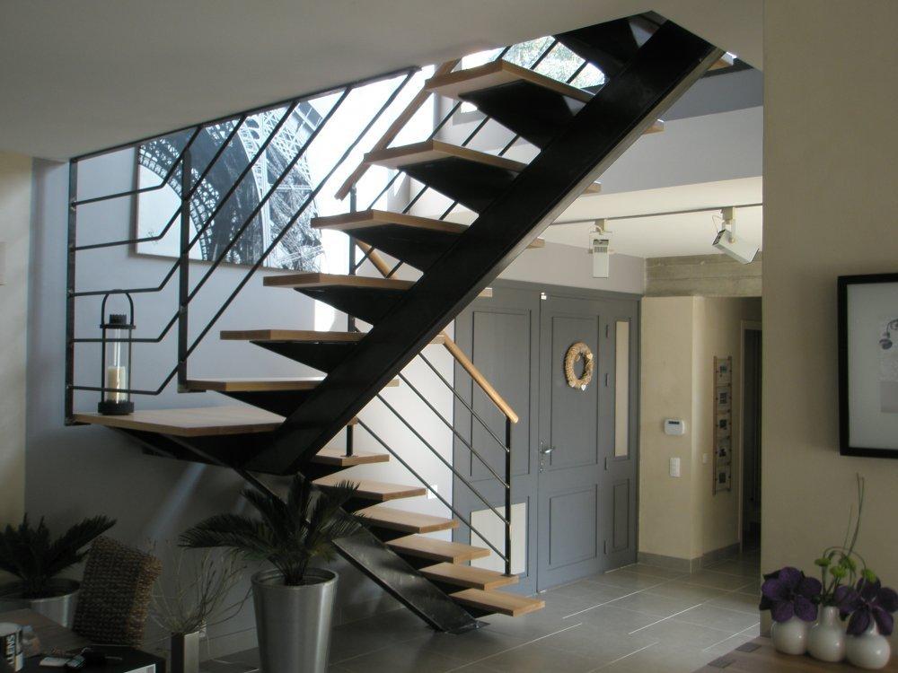 Sur l vation et r novation d une maison contemporaine - Escalier maison contemporaine ...