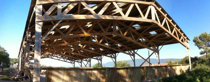 Construction d'un manège à chevaux à Montoison (26)