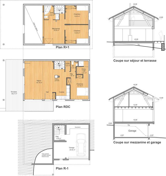 Construction d une maison en ossature bois veaunes 26 - Construction d une maison en bois ...
