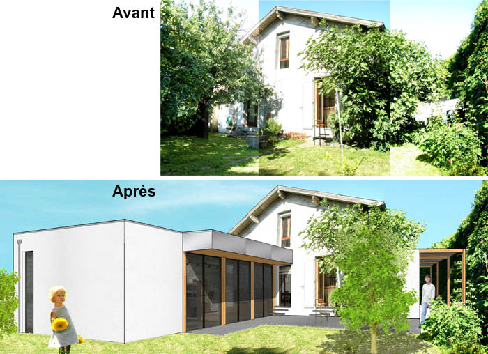 Extension Contemporaine Et R Novation D Une Maison Des